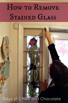Days of Chalk and Chocolate: Removing Stained Glass Sidelights (DIY project)