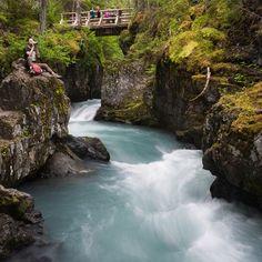 Winner Creek Trail - Girdwood, AK, United States. don't go chasin' waterfalls