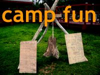 Camp songs and activities