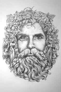 Bacchus' - Composition Sketch V1 by Greg Coulton | Arte ...