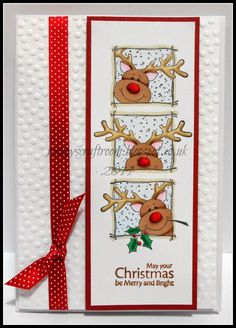 Christmas Reindeer - These adorable Reindeer are screaming punch art