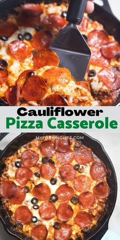 This low carb dinner is a delicious recipe that the whole family will love! Easy to make in a skillet, customize it with your favorite pizza toppings to make it your own!