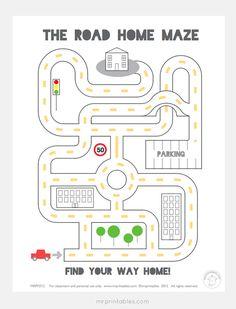 Fun printable mazes for kids | Mr Printables