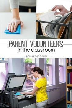 Managing Parent Volunteers in the Preschool and Kindergarten Classroom. Tips for recruiting and pre-written notes you can use to create a team of volunteers to help in your classroom!