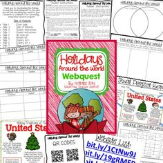 Holidays Around the World Webquest! A great Christmas project to do on the computers or iPads - QR codes are provided! A fun way to do research projects during the holiday season while also learning about different traditions from around the world!