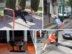 French artist Cedric Bernadotte wanted to figure out a new way for humans to interact with the urban environment. He believes that stopping to rest and enjoy a few quiet moments is essential for one's enjoyment of the city. He accomplishes his goals with the creative use of cellophane, industrial tapes and inflatables.Using the type of sealing plastic that's used to secure pallets, Bernadotte invents new spaces using existing city objects,existing only temporarily,leaving no trace when it's…