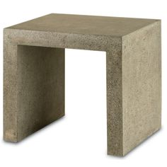 Transitional side table in polished concrete