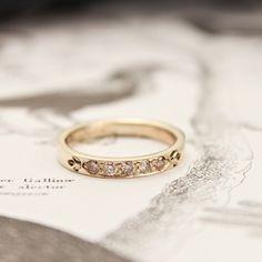 rustwedding — 9ct gold 3mm champagne diamond band