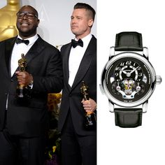 "Oscar® winner in the category ""Best motion picture of the year"" for ""12 Years a Slave"", Steve McQueen was wearing Montblanc Nicolas Rieussec Open Home Time timepiece at the Academy Awards."