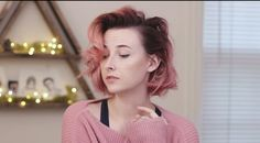 Tessa Violet pastel hair