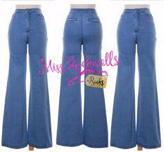 PREORDER Boutique Pants S M L Medium Wash High Waist 4 Pocket Flare Denim Jeans #Boutique #HighWaist