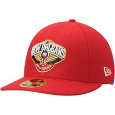 Men s New Orleans Pelicans New Era Scarlet Official Team Color Low Profile  59FIFTY Fitted Hat 08b33bd9990