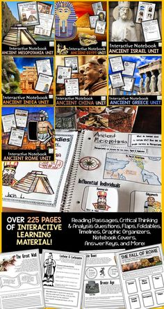 Great lessons for the grade classroom for social studies / history - includes timelines printable projects and foldables World History Projects, World History Lessons, Study History, Teaching History, World History Classroom, History Quotes, History Education, Ancient Mesopotamia, Ancient Civilizations