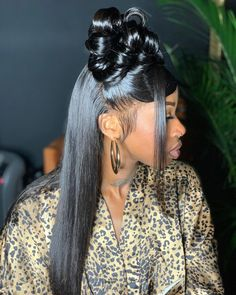 Weave Ponytail Hairstyles, Ponytail Styles, Baddie Hairstyles, Black Girls Hairstyles, Curly Hair Styles, Natural Hair Styles, Black Hair 90s, Hair Laid, Aesthetic Hair