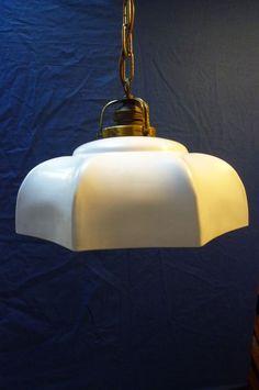 Online veilinghuis Catawiki: Zeldzame Art-Deco geglazuurde hanglamp. Glazuur