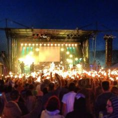 hey rosetta! audience with sparklers during yer spring at evolve festival.
