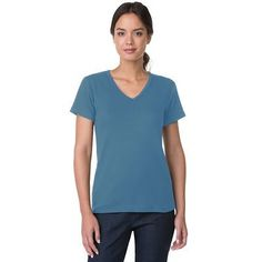 Short-Sleeve V-Neck Knit Top - TravelSmith