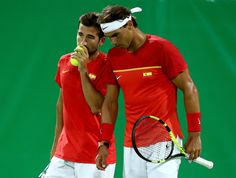 Rafael Nadal and Marc Lopez