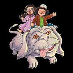 Dustin and Suzie - Neverending Story - Stranger Things - Enjoy one of the cutest scenes where Stranger Things meets the Neverending Story with this memorable shirt. Starnger Things, Stranger Things Funko Pop, Story Tattoo, Day Of The Shirt, The Neverending Story, Painted Rocks, Tv, Pop Art, Art Drawings