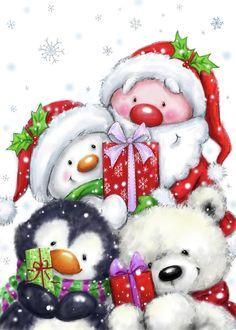 Christmas Scenes, Christmas Pictures, Christmas Art, All Things Christmas, Christmas Decorations, Christmas Ornaments, Xmas, Illustration Noel, Christmas Illustration