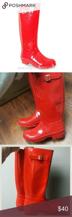 Rainboots Nomad red rainboots. Out of the box, but never worn. Very nice! Nomad Shoes Winter & Rain Boots