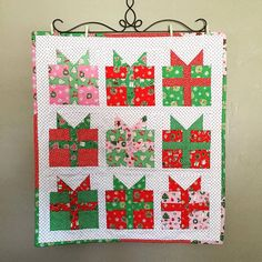 Christmas Present  Mini Quilt                                                                                                                                                     More