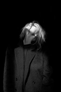 A PORTRAIT OF DOROTHEA BARTH- JORGENSEN IN BLK DNM F/W13. PHOTOGRAPHED BY JOHAN.