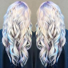 Holographic Hair Is Here And It's The Hottest Hair Trend Of 2017 ❤ liked on Polyvore featuring hair