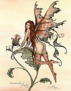 Amy Brown Fairie Fantasy Art | Amy Brown - Temptation of Spring - Fantasy Fairy Art Print