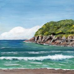 "Daily Paintworks - ""Sea Bay"" - Original Fine Art for Sale - © Janet Graham"