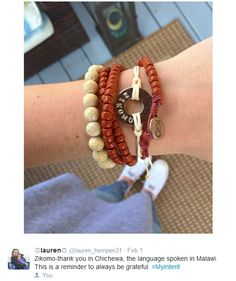 MyIntent cotton tie-on bracelet