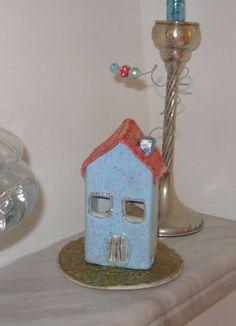 Ανεράιδα: Χριστουγεννιάτικα σπιτάκια από πηλό Decorative Bells, Diy Crafts, Christmas Ornaments, Holiday Decor, Blog, Greek, Home Decor, Decoration Home, Room Decor