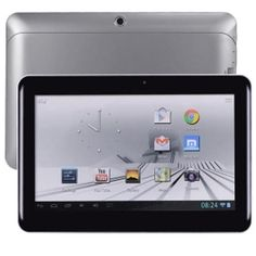 Digital2 D2-1061G-MS Quad-Core 1.0GHz 1GB 16GB 10 Capacitive Multi-Touch Tablet Android 4.1 w/Cams & BT (Silver) - B