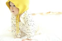 dotkind.at - Haube My Fairy gelb, Mini Dressing Spring Time, Dressing, Mini, Face, Fun Stuff, Hoods, Welly Boots, Yellow, The Face