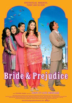 Bride and Prejudice. Typical chick flick with Bollywood twist. My first Bollywood film. Bride And Prejudice, Movies Showing, Movies And Tv Shows, Bollywood Posters, Chick Flicks, Indian Movies, Streaming Movies, Hd Streaming, Great Movies