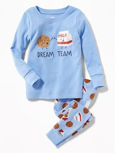 """Old Navy """"Dream Team"""" Sleep Set for Toddler & Baby Boys Pjs, Boys Pajamas, Pajamas Women, Boys T Shirts, Kids Nightwear, Boys Sleepwear, Toddler Outfits, Baby Boy Outfits, Cute Outfits"""