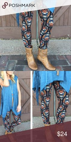 ✨NEW ARRIVAL✨ Paisley Print Leggings SO Soft And Buttery! 💎92% Polyester 8% Spandex💎 These Are One Size {Fits 2-12 Comfortably} Infinity Raine Pants Leggings