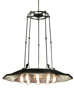Super Rare I. P. Frink, Ten-Light Chandelier   From a unique collection of antique and modern chandeliers and pendants  at https://www.1stdibs.com/furniture/lighting/chandeliers-pendant-lights/