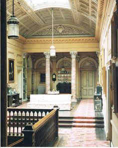 The Inner Hall - Stradbally Hall dates from 1740, Picture from Romantic Irish Homes, by Robert O'Byrne, photography Simon Brown.