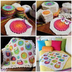 anneme kesinlikle yaptıracağım baykuşlu bebek battaniyesi :)