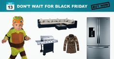 Black Friday News - If you're looking to score a great deal before the Black Friday frenzy, look for these items during the Columbus Day sales starting. Black Friday News, Things To Buy, Stuff To Buy, Online Sales, Buy Now, Waiting, Ads