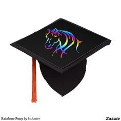 Rainbow Pony Graduation Cap Topper