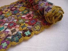 mini granny scarf. So colorful!