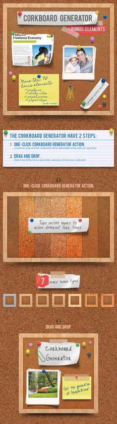 Corkboard - Notice Board Generator Action  #cork texture #corkboard #notice • Available here → http://graphicriver.net/item/corkboard-notice-board-generator-action/699356?s_rank=77&ref=pxcr