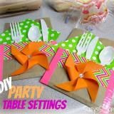 Linked to: suzyssitcom.com/2014/06/easy-diy-party-table-settings.html