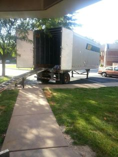Open moving truck at sem