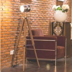 MOJO® Floor Lamp Table Lamps Tripod Standard Trivet Urban Industrial Design Sel-l30 (Brown, Floor Lamp): Amazon.co.uk: Kitchen & Home