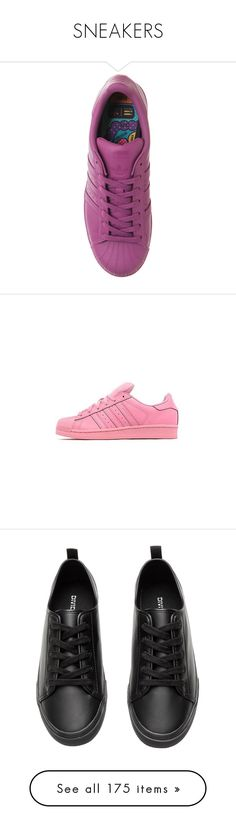 """SNEAKERS"" by liazpanda ❤ liked on Polyvore featuring shoes, sneakers, clothes - shoes, adidas, adidas trainers, adidas shoes, pink shoes, pink sneakers, shoes // socks and adidas originals sneakers"