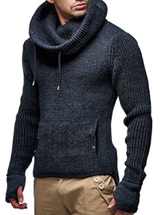 Leif Nelson Men's Knit Pullover With Turtle Neck Designer Collar Casual Sweaters, Pullover Sweaters, Sweatshirt, Cardigans, Mens Turtleneck, Men Sweater, Sweater Hoodie, Pullover Hoodie, Smart Casual Menswear