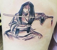 This stunning Mulan concept art. | 41 Disney Tattoos That'll Make You Want To Get Inked